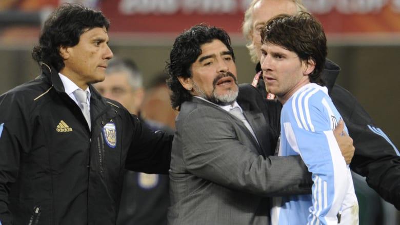 ميسي ينعى مارادونا بكلمات مؤثرة: رحل لكنه سيبقى معنا