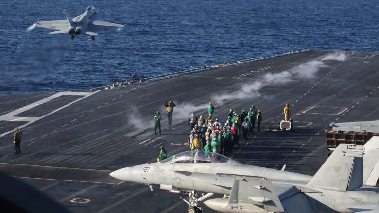 حاملة طائرات أمريكية عملاقة تعود للانتشار في بحر العرب