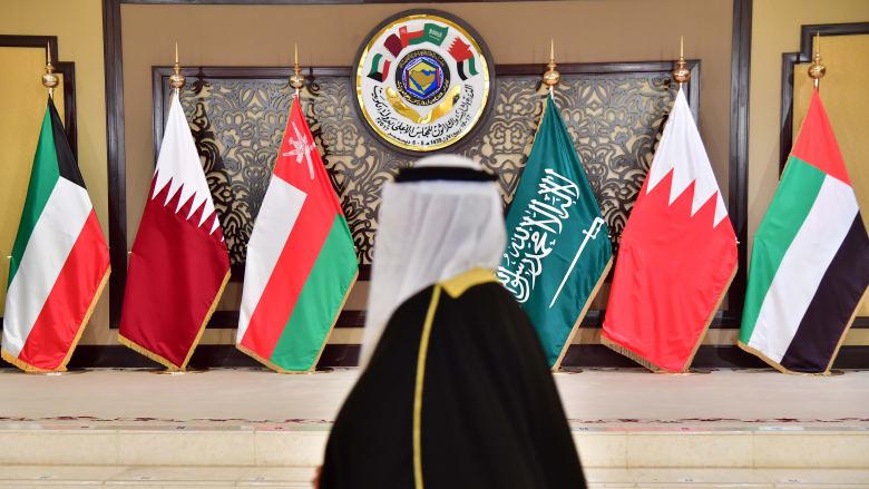صورة أرشيفية لأعلام الدول الأعضاء بمجلس التعاون الخليجي