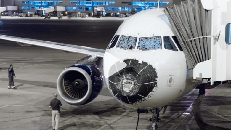 أمريكا: طائرة مهشمة الزجاج ومصابة بصاعقة ودون مقدمة.. تهبط بأعجوبة بلا ضحايا