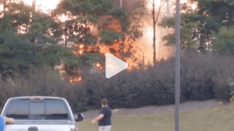 بالفيديو.. اللحظات الأولى لتحطم طائرة في ألاباما