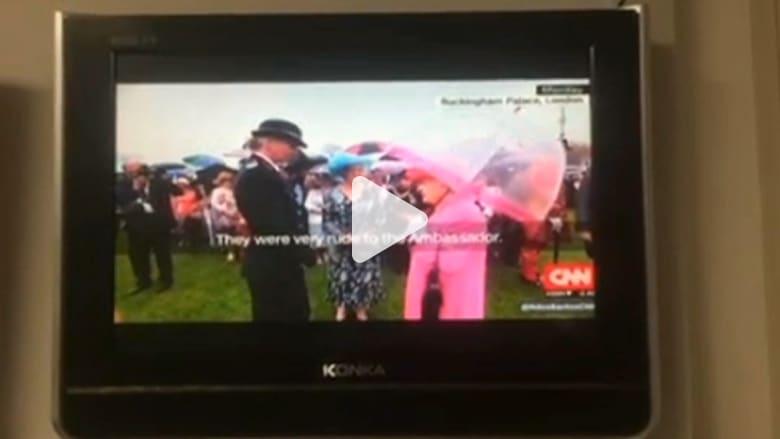 بالفيديو: حجب جزئي لتغطية CNN أثناء تعليقات الملكة إليزابيث عن فظاظة مسؤولين صينيين