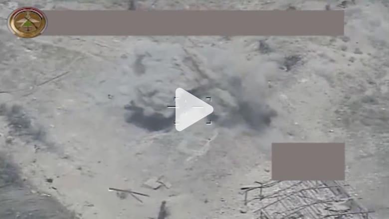 """شاهد.. لحظة استهداف مقاتلات التحالف لعناصر """"داعش"""" بالفلوجة"""