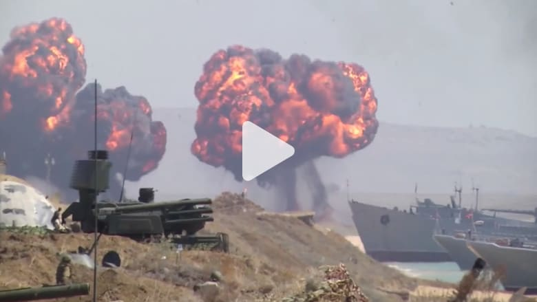 روسيا تجري مناورات عسكرية واسعة النطاق في القرم