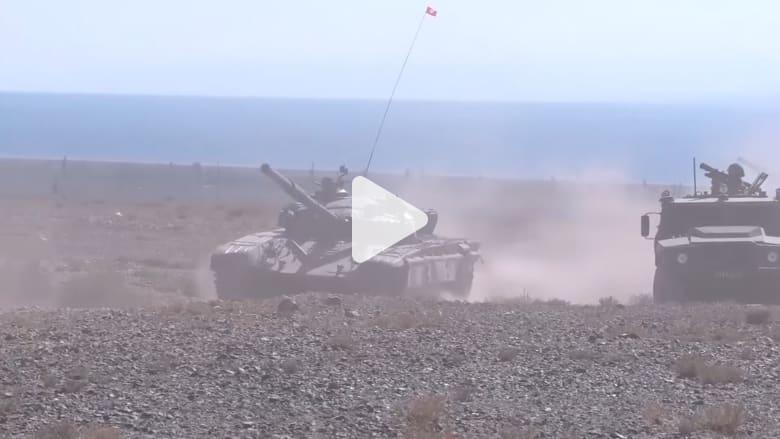 مناورات عسكرية بين الجيشين الروسي والصيني في قرغيزستان