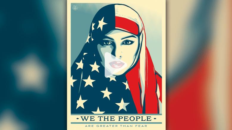 وجه هذه المرأة أصبح أيقونة معارضة ترامب