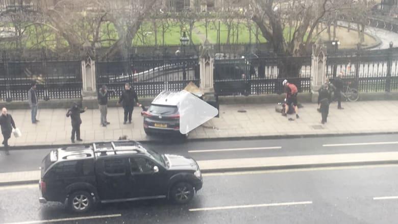 مشاهد أولية تظهر لحظات الفزع بعد هجوم البرلمان البريطاني
