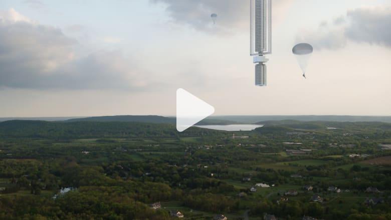 بالفيديو.. كيف سيعلق برج من السماء في دبي؟
