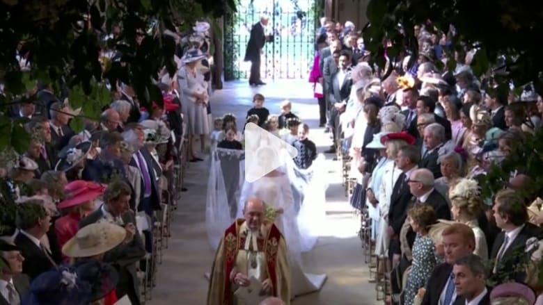 مقتطفات من مراسم زفاف الأمير هاري وميغان ماركل