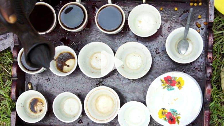 """طقوس إعداد """"قهوة جيما"""" في إثيوبيا"""