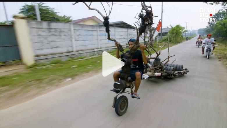 """في إندونيسيا.. تعديل دراجات """"فيسبا"""" إلى حد التطرف"""
