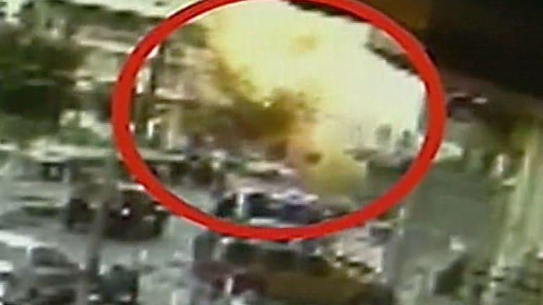 فيديو يظهر لحظة التفجير بمعقل حزب الله
