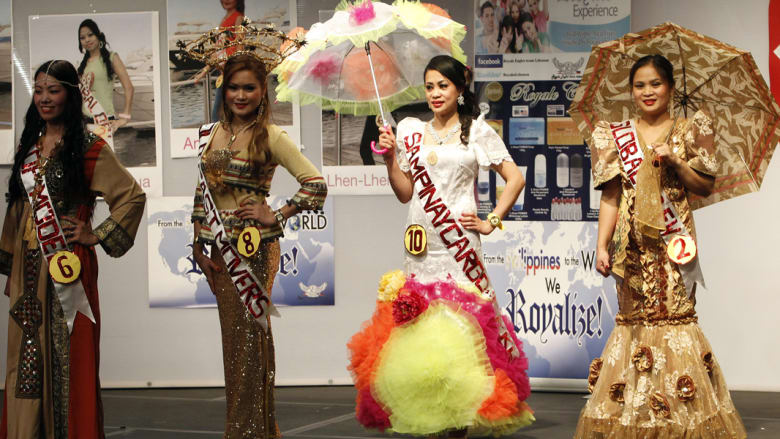 بالصور: انتخاب ملكة جمال عاملات المنزل الفلبينيات في لبنان