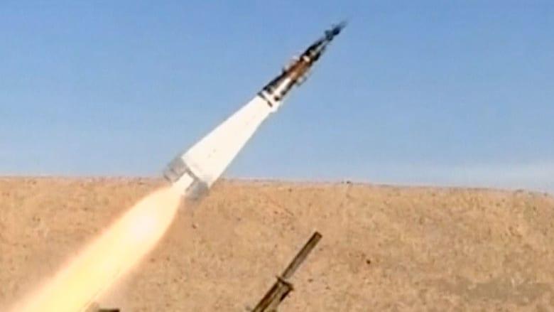 فيديو لعملية اختبار صواريخ جديدة بإيران