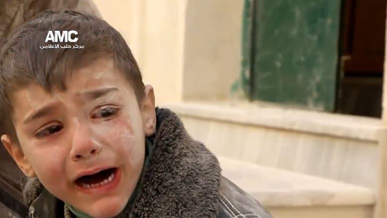 بالفيديو.. مأساة عائلة فقدت أفرادها بعد قصف حلب