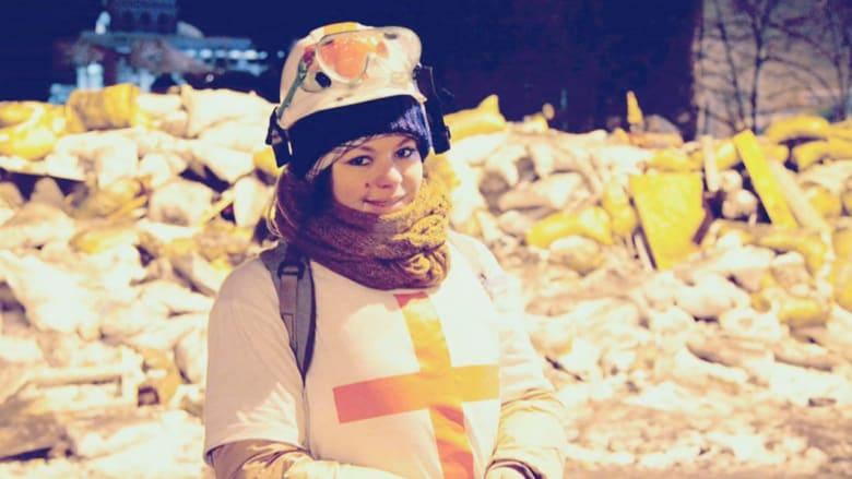 عاشت بعد اختراق رصاصة لعنقها فأصبحت رمزا للثورة الأوكرانية