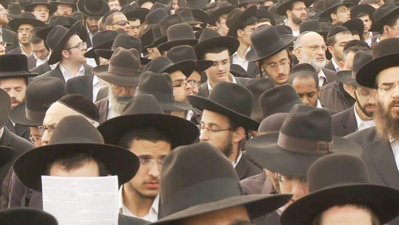 يهود متشددون يتظاهرون ضد التجنيد العسكري بإسرائيل