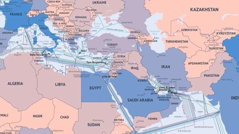 تعرف على خريطة كابلات الانترنت تحت البحر