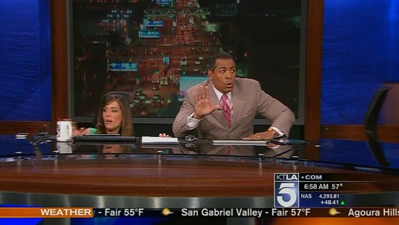 لحظات رعب على الهواء أثناء زلزال كاليفورنيا
