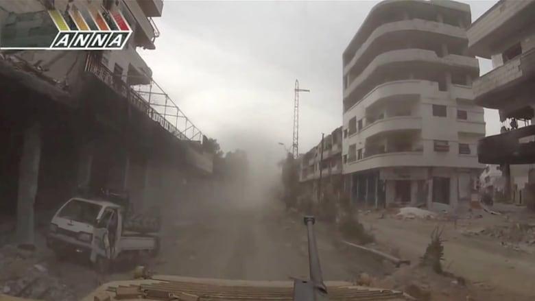مدن سوريا المهجورة من فوق الدبابات السورية