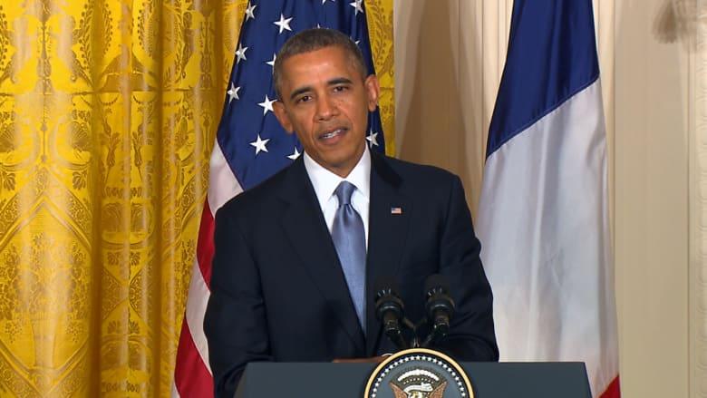 أوباما محبط من الأزمة السورية ويحذر من يتعامل مع إيران