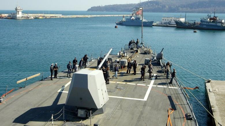 """كيري: روسيا خلف """"الفوضى"""" بشرق أوكرانيا.. وسفينة حربية أمريكية بالبحر الأسود"""