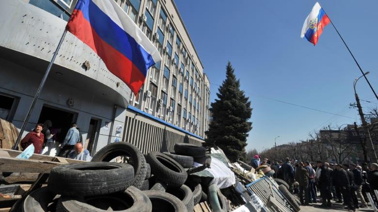 أوكرانيا: أنباء عن احتجاز موالين لروسيا لـ60 رهينة داخل بناية مفخخة