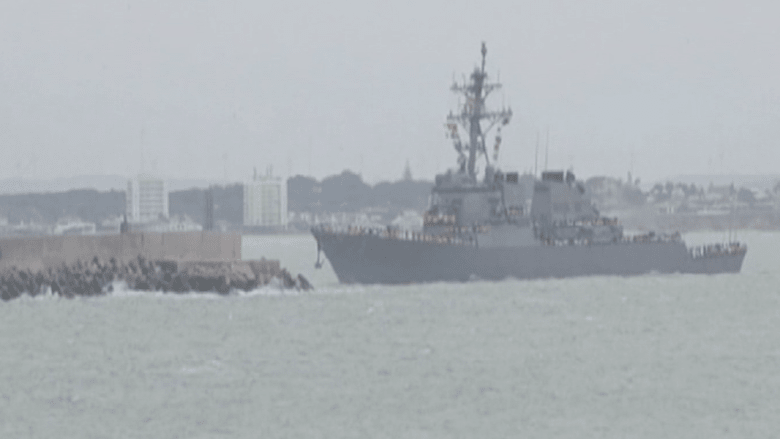 """مقاتلة روسية """"تتحرش"""" بسفينة حربية أمريكية في البحر الأسود"""