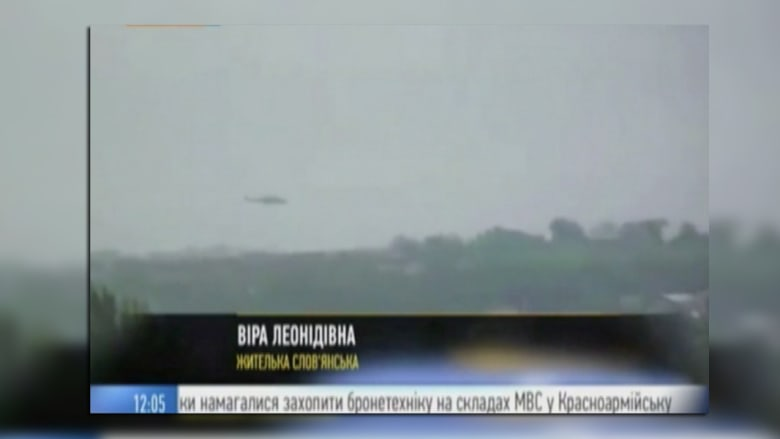 """بالفيديو.. لحظة إسقاط مروحية أوكرانية في """"سلافيانسك"""""""