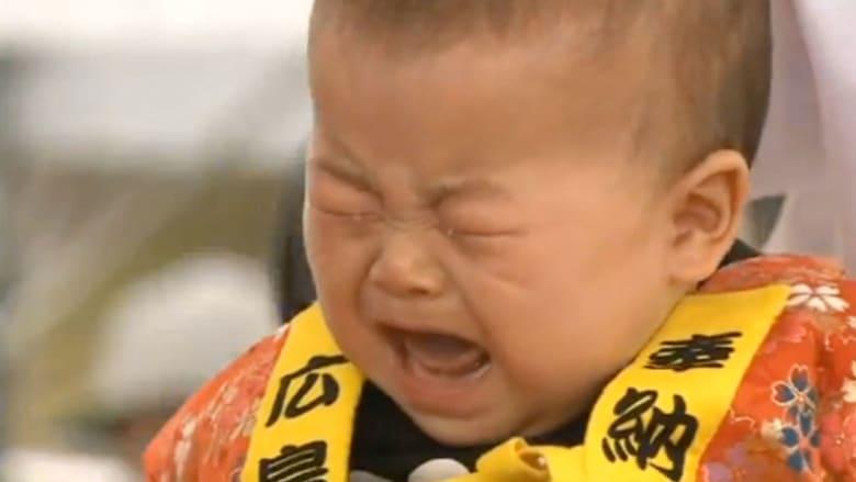 مسابقة الطفل الأعلى صوتا عند البكاء في اليابان