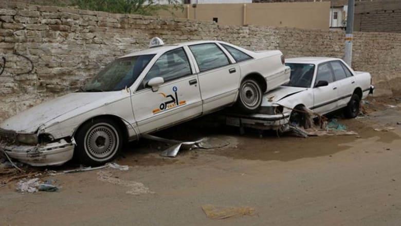 أضرار بالسيارات والممتلكات