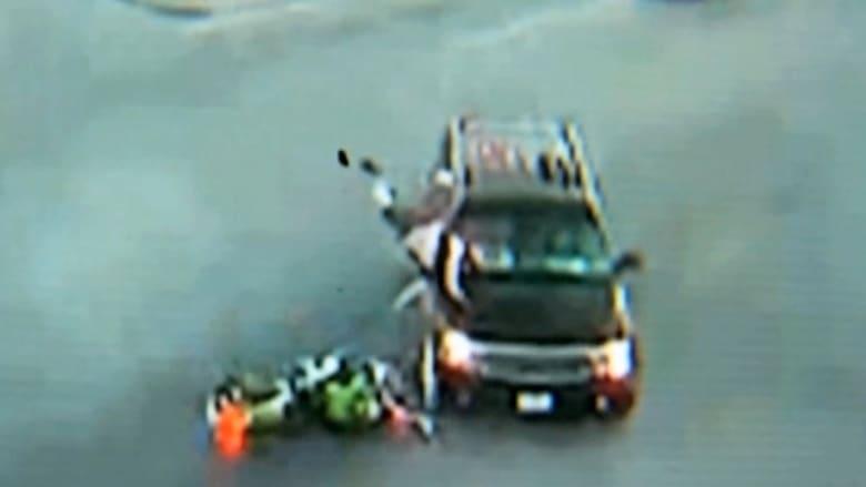 رجل ينجو بأعجوبة من حادث مريع