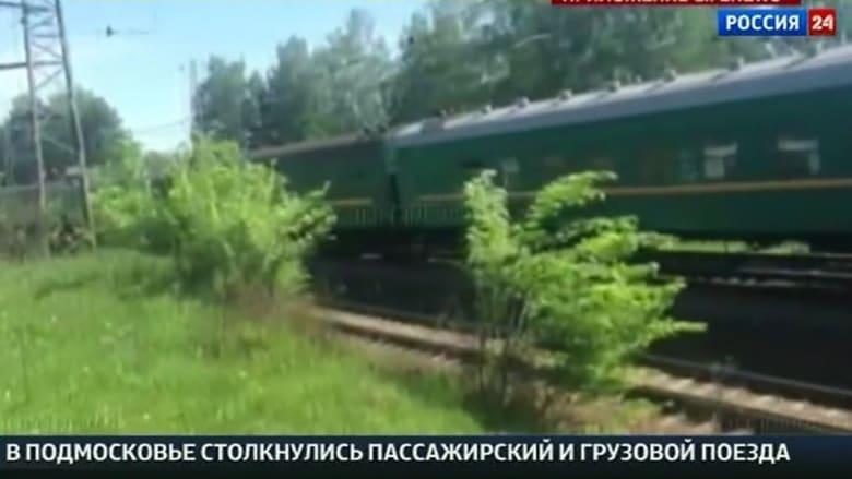 بالفيديو.. تصادم قطارين قرب العاصمة الروسية