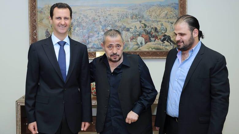 صورة تجمع الرئيس السوري بجورج وسوف ونجله