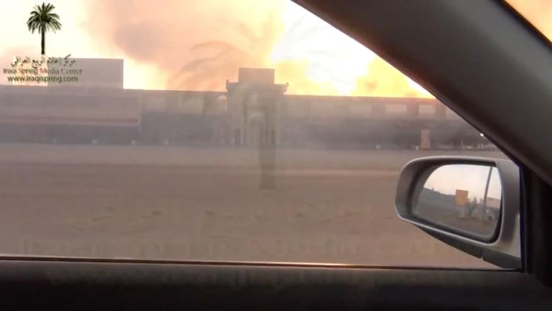 آثار هجمات جوية على بيجي