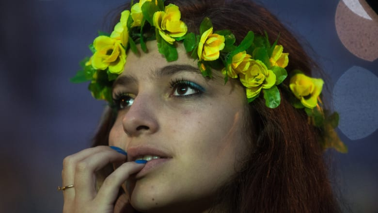 بالصور.. صدمة الجماهير البرازيلية بعد أهداف ألمانيا