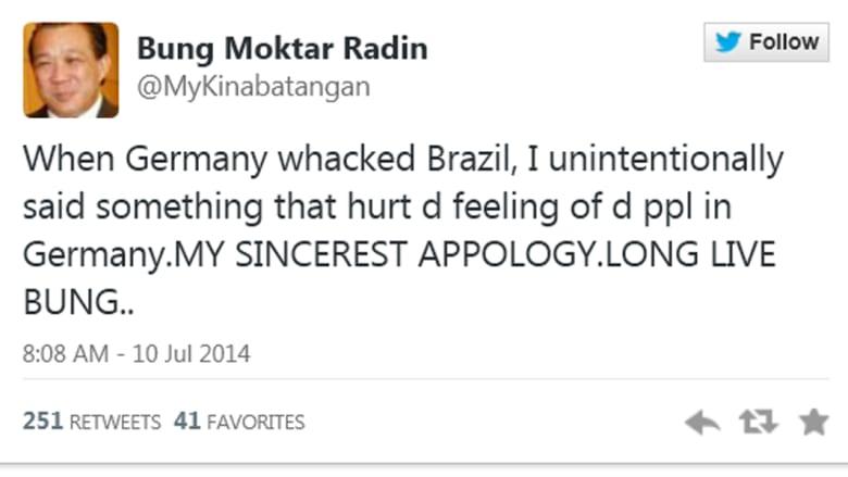 نائب ماليزي يعتذر عن الإشادة بهتلر بعد فوز ألمانيا