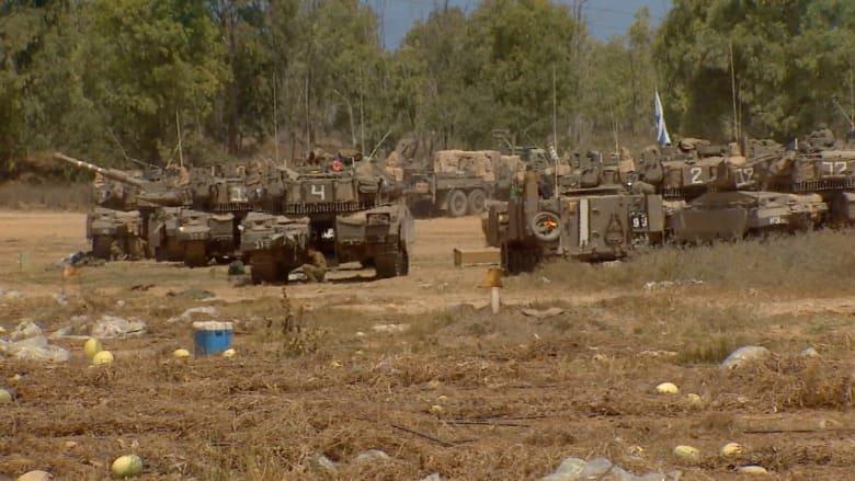 حشد القوات الإسرائيلية على الحدود مع غزة