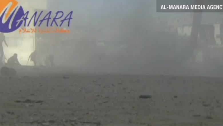 فيديو يظهر قصفا إسرائيليا على سوق بغزة
