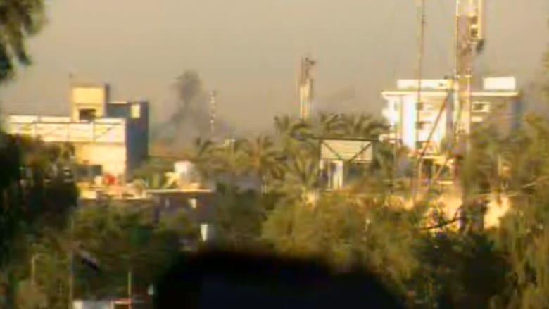 بالفيديو..  انفجار سيارة مفخخة على طريق مزدحم بوسط بغداد