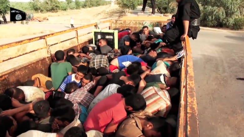 فيديو من داعش.. تجميع مئات الطلاب كالماشية ثم قتلهم
