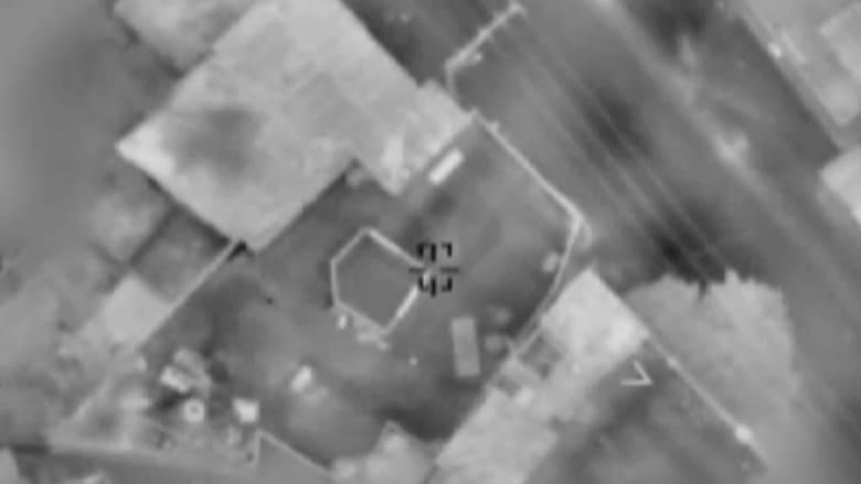 شاهد لحظة شن إسرائيل غارات جوية بغزة