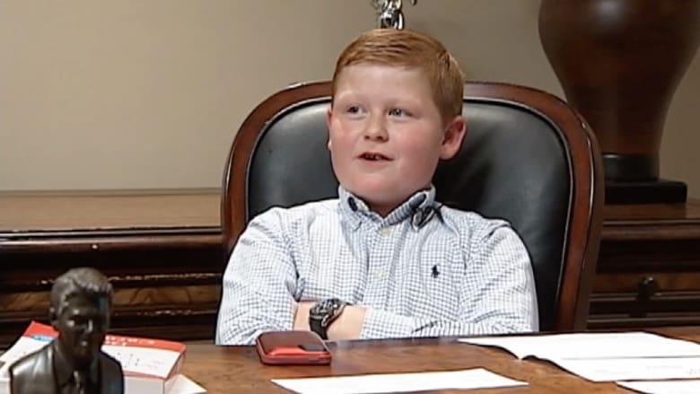 طفل في الـ 10 من عمره رئيسا تنفيذيا لشركة ناجحة