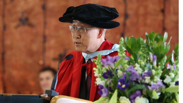 أوكلاند، نيوزيلندا- الأمين العام للأمم المتحدة بان كي مون يتسلم شهادة الدكتوراة الفخرية من جامعة أوكلاند 3 سبتمبر/ أيلول 2014