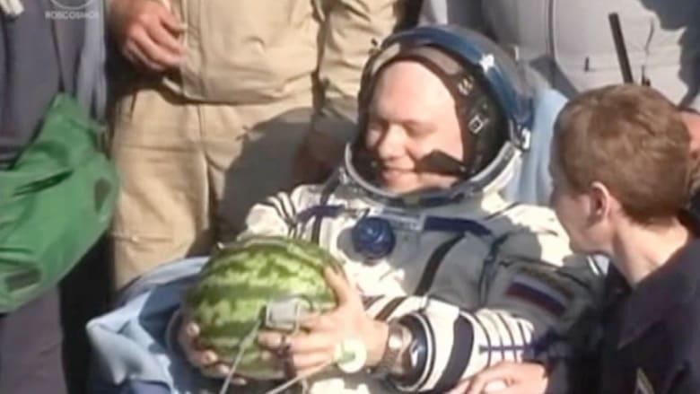بطيخة في استقبال العائدين من محطة الفضاء الدولية