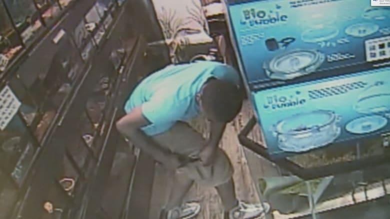كيف تسرق تمساحا وتخفيه في جيبك.. سرقة وثقتها كاميرا المراقبة