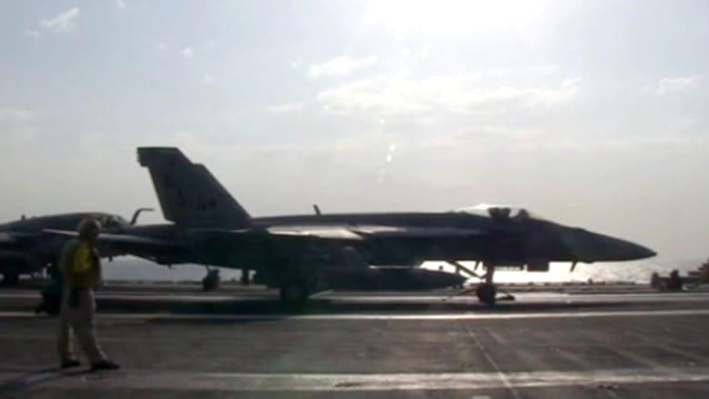 """بالفيديو.. استعدادات على حاملة الطائرات USS جورج واشنطن لضرب أهداف """"داعش"""""""