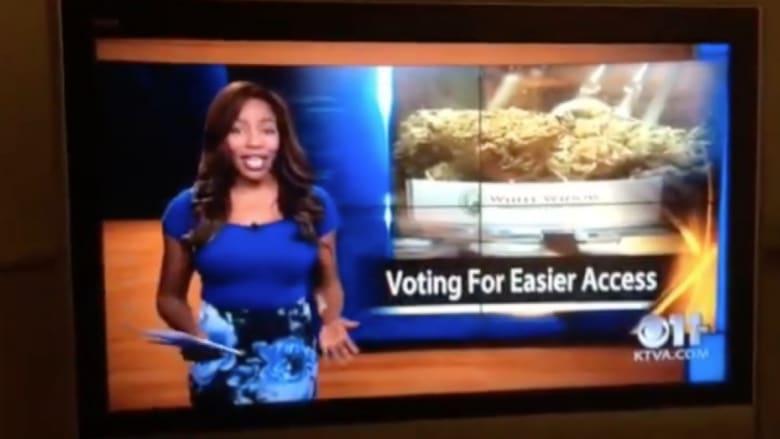بالفيديو.. مذيعة أمريكية تعلن استقالتها على الهواء للدفاع عن حق استخدام الماريغوانا