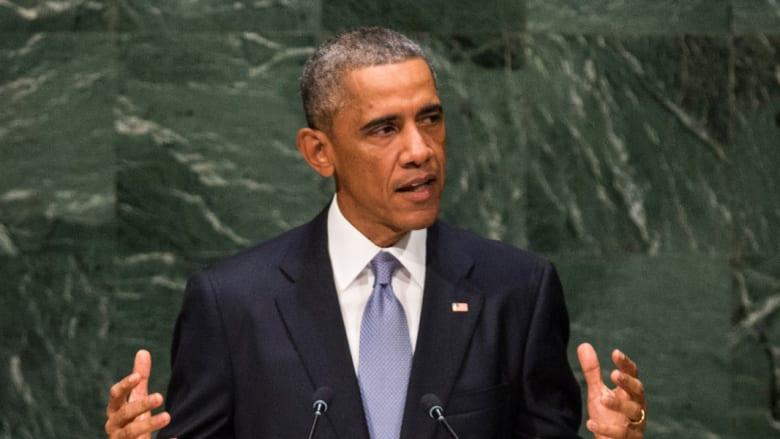 أوباما: لا يوجد إله يقبل بقطع الرؤوس هكذا.. سنمنع وصول المقاتلين إلى داعش وسنقطع تمويله للقضاء عليه