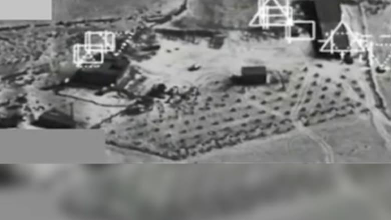 بالفيديو.. قصف مجمع داعش بالقرب من مدينة كوباني